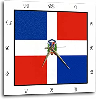 3dRose dpp_80949_1 Photo of Dominican Republic Flag Button Wall Clock, 10 by 10""