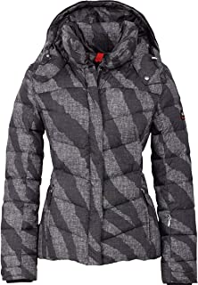 Bogner Fire + Ice Sally-D Down Ski Jacket Womens, 8, Black Print