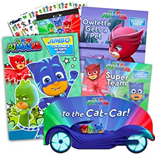 PJ Masks Coloring and Activity Book Set for Kids ~ 5 Pc Bundle with PJ Masks Coloring Book, 2 Story Books, Stickers, and M...