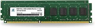 Adamanta 16GB (2x8GB) Desktop Memory Upgrade DDR3/DDR3L 1600MHz PC3L-12800 Unbuffered Non-ECC UDIMM 2Rx8 1.35v CL11 DRAM RAM