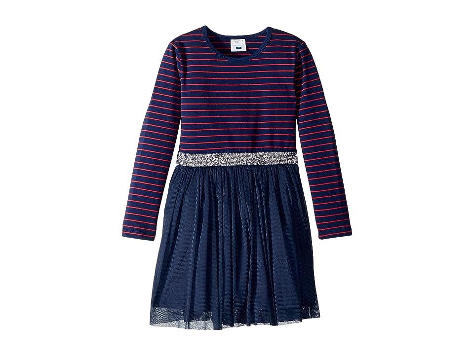 Toobydoo Tulle Party Dress (Toddler/Little Kids/Big Kids) (Navy Stripe) Girl