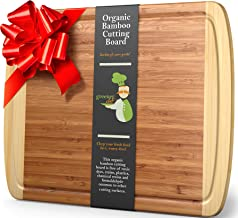 GREENER CHEF Extra Large Bamboo Cutting Board – Lifetime Replacement Cutting Boards..