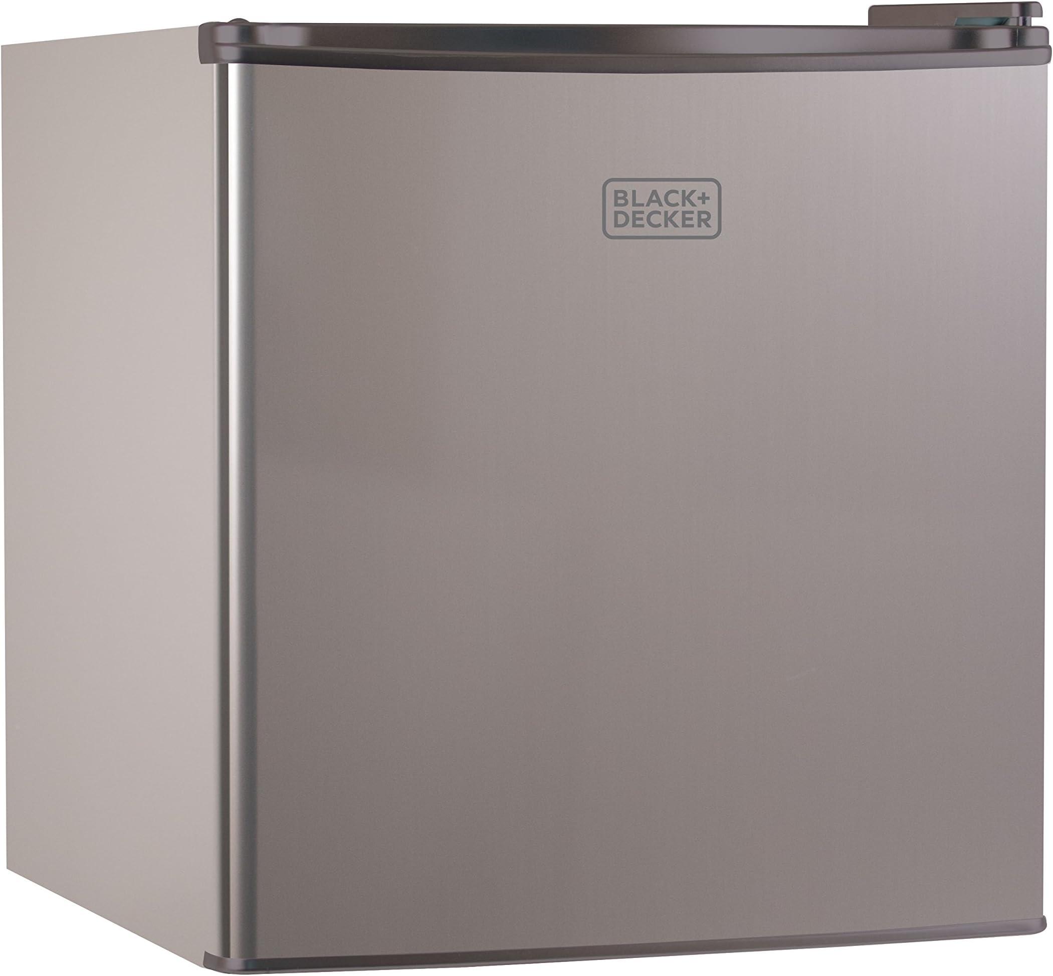 BLACK+DECKER BCRK17V Compact Refrigerator Energy Star Single Door Mini Fridge with Freezer, 1.7 Cubic Ft., VCM