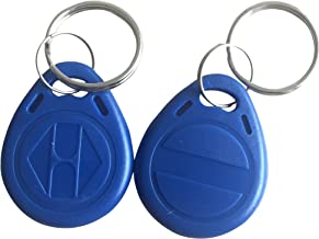 YARONGTECH-125khz rewritable T5577 rfid keyfobs/tag for hotel key-10pcs (Blue)