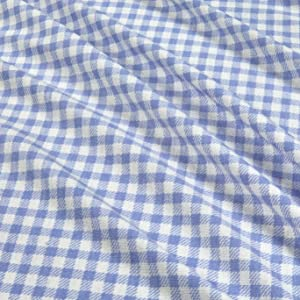 Fabric California Stretch French Terry Gingham Fabric, Sky Blue, Fabric By The Yard