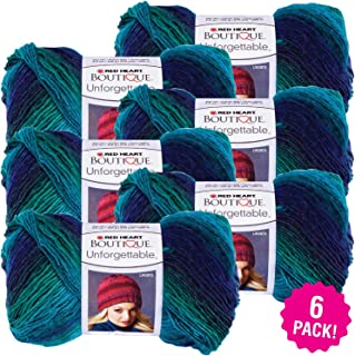 Red Heart 99459 Boutique Unforgettable Yarn 6/Pk-Dragonfly, Pack