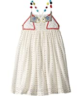 Stella McCartney Kids - Pear Donkey Embroidered Dress w/ Pom Poms on Straps (Toddler/Little Kids/Big Kids)
