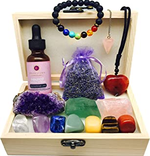 Luxury Full Healing Crystal Collection for Self Love,Confidence,7 Chakra Stones, 3 healing Crystals, Aromatherapy Love Oil, DIY 3D Butterflies,Guide in Custom Box, Premium Gift for Love Healing