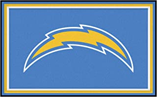 FANMATS NFL San Diego Chargers Nylon Face 4X6 Plush Rug
