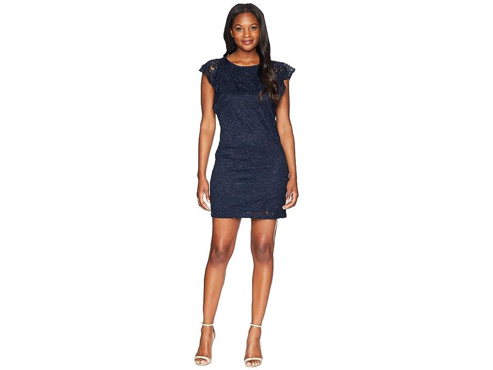 Adrianna Papell Short Tunic w/ Short Sleeves Dress (Blue Moon) Women