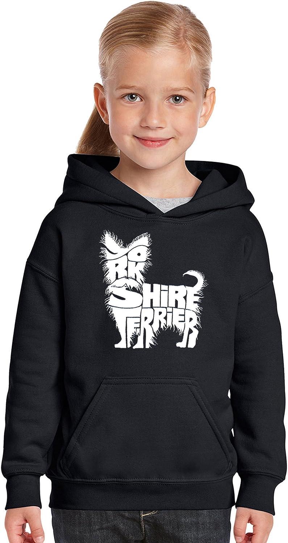 Girls Word Art Hooded Sweatshirt LA Pop Art Yorkie