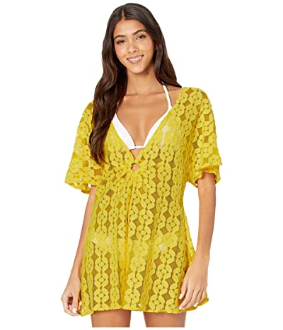 Jessica Simpson Nice Lemons O-Ring Cover-Up (Lemon) Women