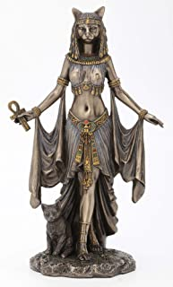 "Veronese Design Bastet Egyptian Goddess of Protection Statue Sculpture 10"" Tall"