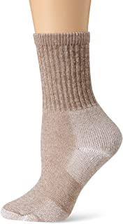 Thorlos Men's Thick Padded Light Hiking Socks, Crew, Walnut Heather, Large (Men's Shoe Size 9.0-12.5)