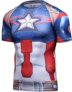 Men's Compression Sports Fitness Shirt, Armor America Teamleader T-Shirt
