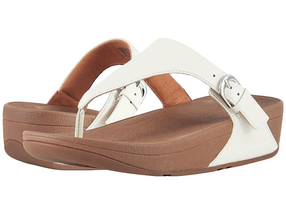 FitFlop Skinny Toe Thong Sandal (Urban White) Women