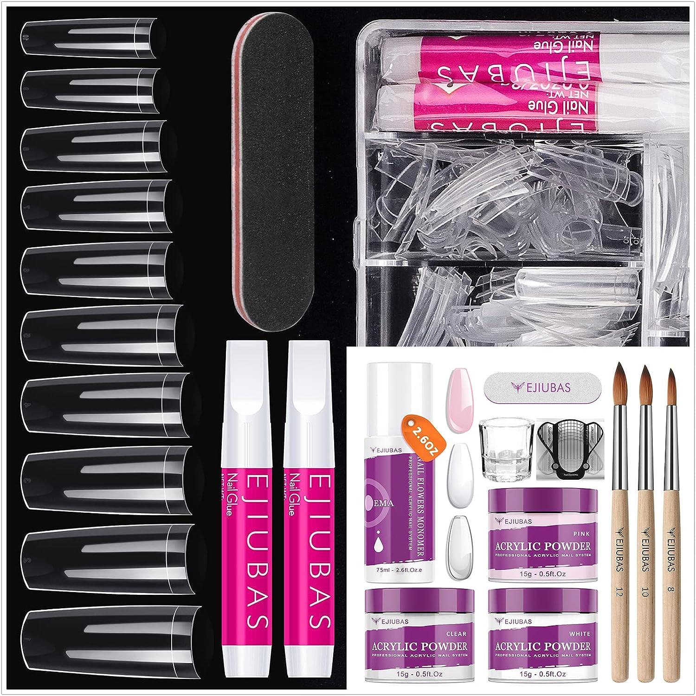 High order Nail Tips Fake Nails Kit Acrylic Monomer Liquid and Set Baltimore Mall Powder