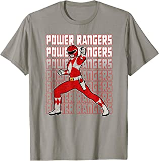 Red Ranger Distressed Fight Pose T-Shirt