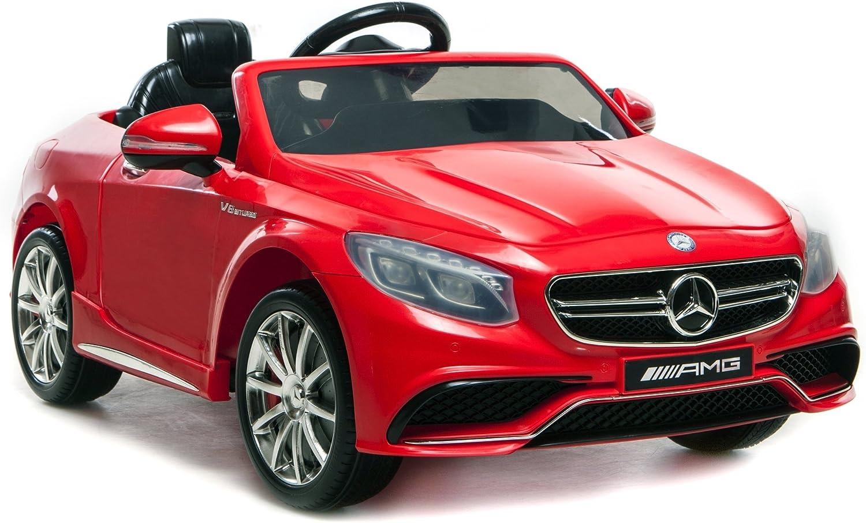 Mercedes Lizenzierte Benz 63 AMG 6V Twin Motor fhrt auf Auto-Rot mit Parental Fern