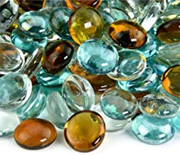 Shabby Chic - Blended Fire Glass Beads for Indoor and Outdoor Fire Pits or Fireplaces | 10 Pounds | 3/4 Inch