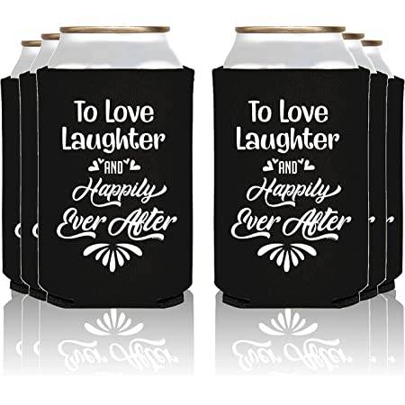 Personalized Can Hugger Cooler Wedding Favors Printed Coolie Custom Monogram 26 Colors Avail We can also use your custom artwork  logo!