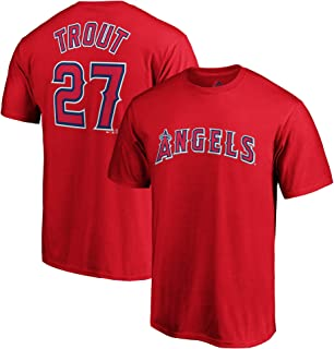 956231e43bb Outerstuff MLB Youth Performance Polyester Team Color Player Name and  Number Jersey T-Shirt