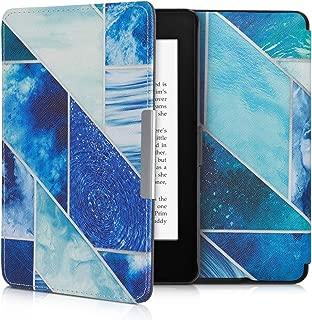 kwmobile Funda para Amazon Kindle Paperwhite - Carcasa para e-Reader de Cuero sintético - Case con diseño de Formas geométricas (para Modelos hasta el 2017)