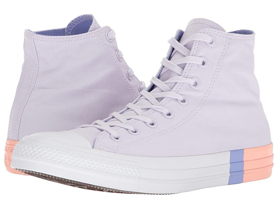 Converse Chuck Taylor(r) All Star Tri Block Midsole Hi (Barely Grape/Twilight Pulse/Pale Coral) Classic Shoes