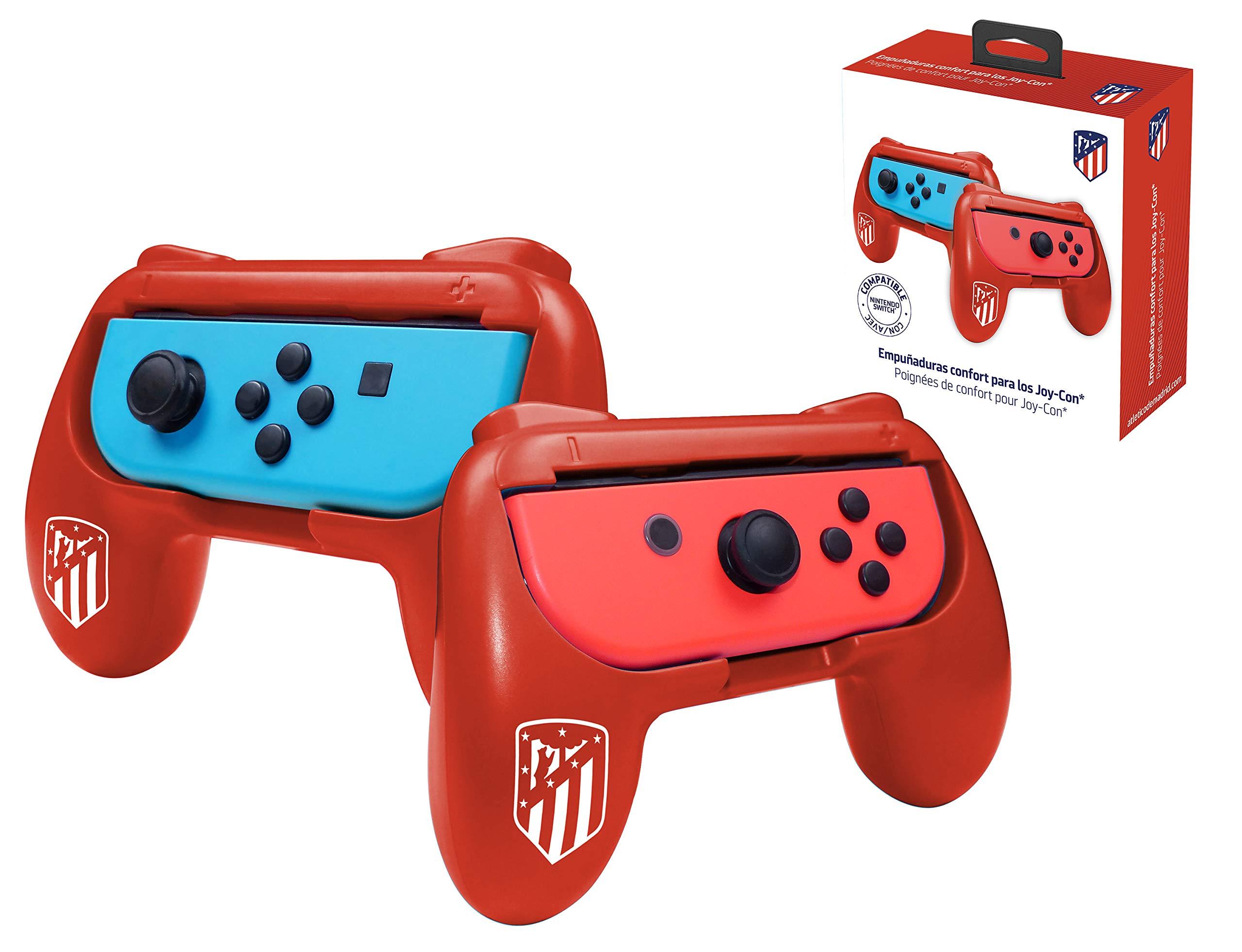 Atletico de Madrid grips (empuñaduras) accesorio para mando JoyCons Nintendo Switch: Amazon.es: Videojuegos