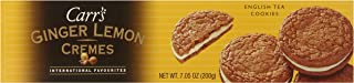 Carrs Cookies, Ginger Lemon Creme, 7.05-Ounce.
