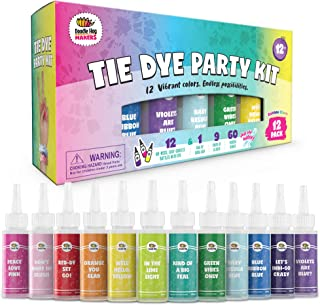 Doodlehog Easy Tie Dye Party Kit for Kids, Adults, and...