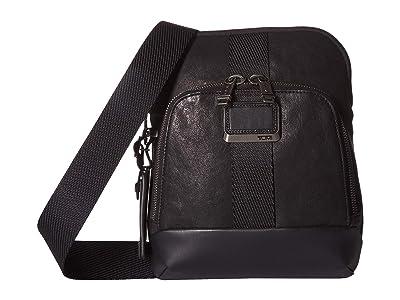 Tumi Alpha Bravo Barksdale Crossbody (Black 1) Cross Body Handbags