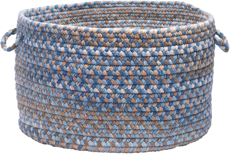 Easter Pastel Wool Basket EB59A008X007 Wool Basket, 8  x 12  x 7 , Denim