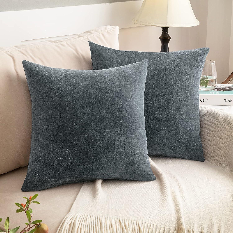 NEERYO Dark Grey Throw Pillow Cheni lowest price Ranking TOP15 Covers Solid Soft Decorative