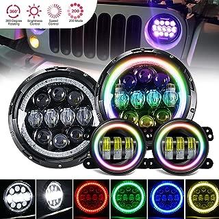 4XBEAM 7 Inch RGB Halo LED Headlights W/ 4
