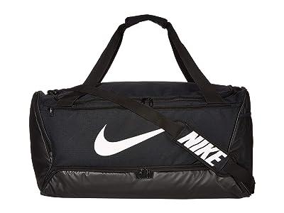Nike Brasilia Large Duffel 9.0 (Black/Black/White) Bags
