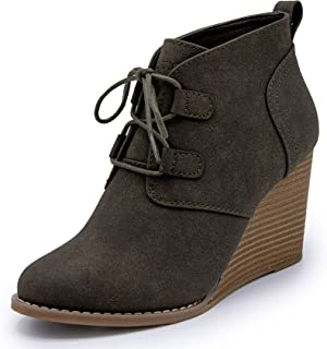 Nautica Womens Vaeda Lace-Up Boot Wedge Ankle Bootie