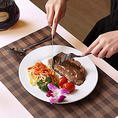 LIANYU 20 Piece Silverware Flatware Cutlery Set, Stainless Steel Utensils Service for 4, Include Knife Fork Spoon, Mirror Pol