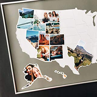 1DEA.me USA Photo Map - 50 States Travel Map - 24 x 36 in - Made from Flexible Plastic