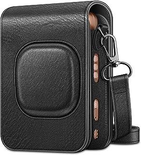 Fintie Camera Case voor Fujifilm Instax Mini LiPlay - Premium Vegan Lederen Beschermhoes met Afneembare Band, (B-Zwart)