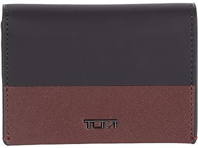 Tumi Nassau Gusseted Card Case (Black/Cordovan) Credit card Wallet