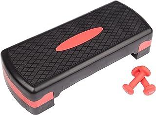 Ultrasport Aerobic Regolazioni da 10 a 15 cm, Workout per la Casa, Tavola Step con Esercizi di Allenamento e 2 Manubri in ...