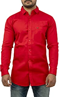 STAR COLLECTION Men's Red Shirt