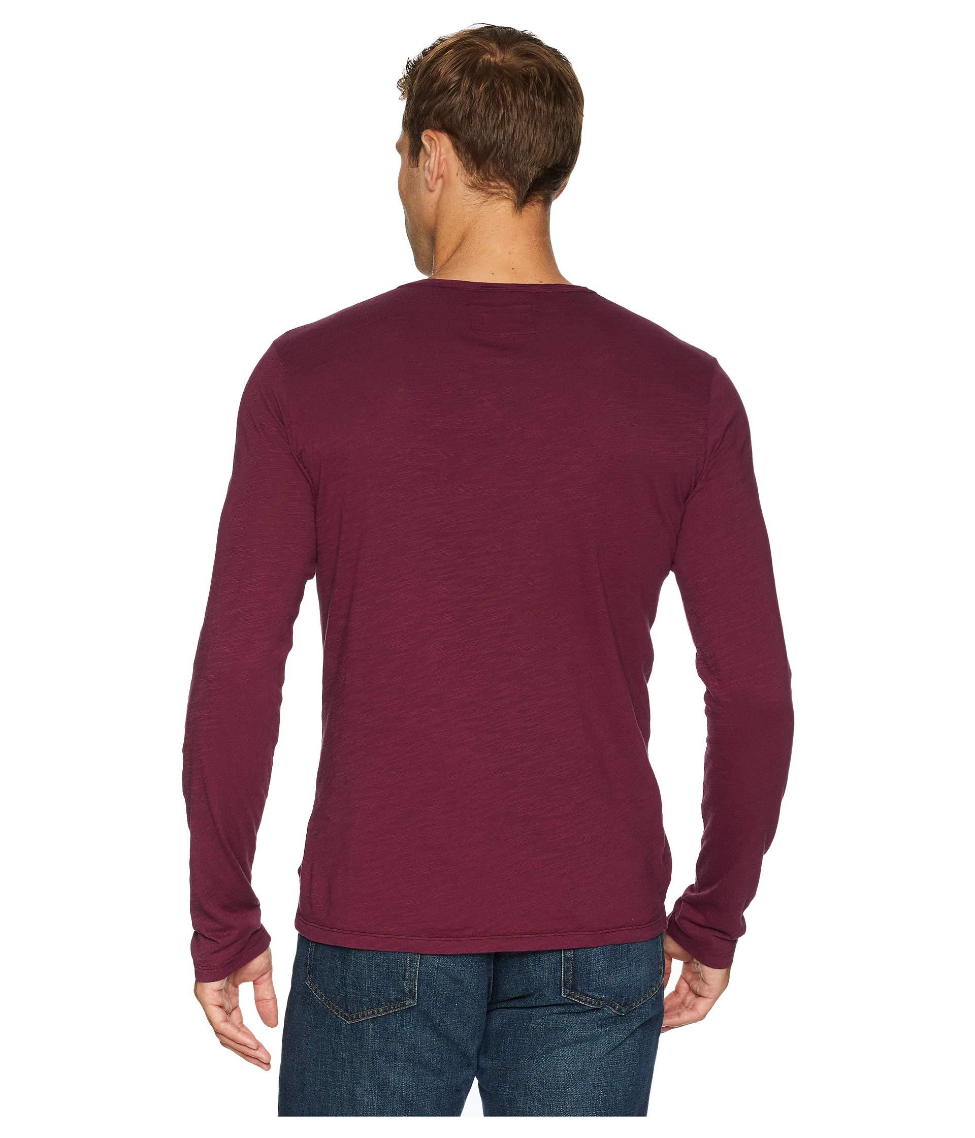 Carillo Mulberry doc o V Notch Les Jersey Sleeve Slub Long Mod neck tqgw46x6