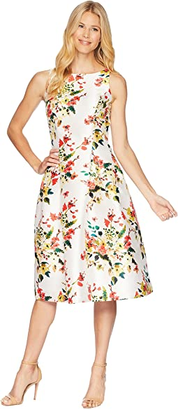 Floral Print Cocktail Midi Dress