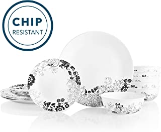 Corelle 18-Piece Service for 6, Chip Resistant Dinnerware Set, Uptown Garden