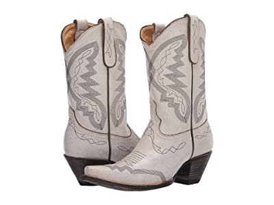 Old Gringo Peyton (Crackled Taupe/White) Cowboy Boots