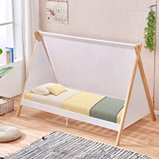 White Wooden Baby Cot Bed Low Toddler Bed Large Baby Crib Children Bed 198cm
