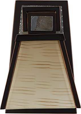 91601ORB Kenroy Home Clean Slate 1 Light Sconce Oil Rubbed Bronze Finish