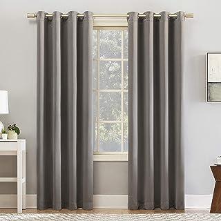 "Sun Zero Glacia Blackout Grommet Curtain Panel, 52"" x 95"", Grey"